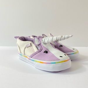 Vans Asher V Canvas Purple Unicorn Sneakers
